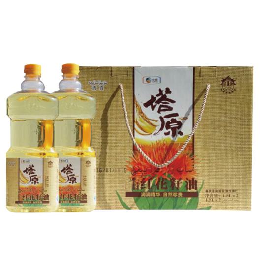 中粮塔原纯红花籽油礼盒3.6L