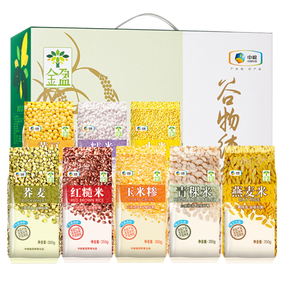 中粮金盈谷物纯粮礼盒2800g