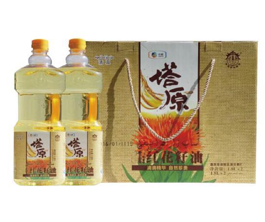 中粮塔原纯红花籽油礼盒1.8L*2