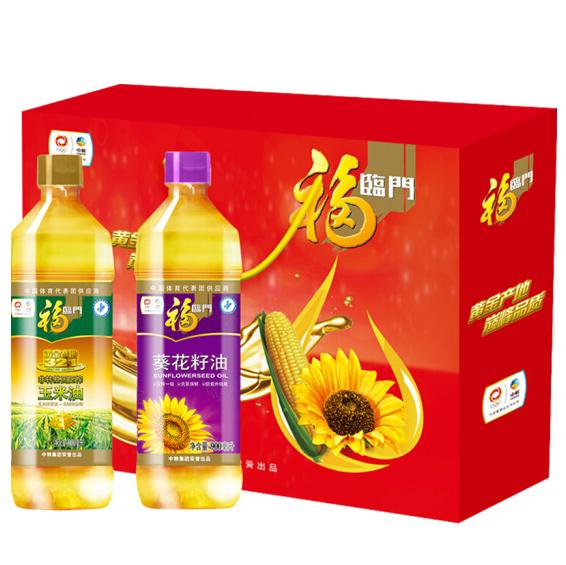 中粮福临门营养油礼盒900mlx2瓶