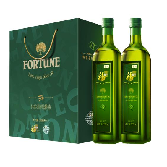 中粮福临门橄榄油礼盒500ml*2