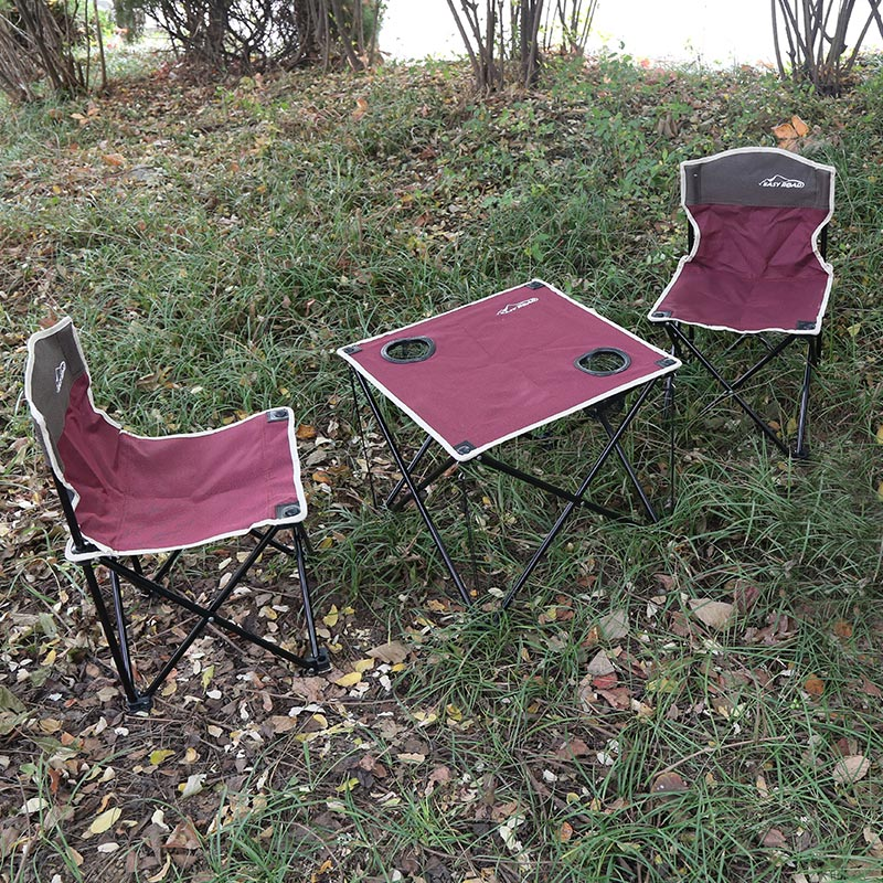 易路达-双色折叠桌椅三件套YLD-TZS02